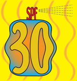 SPF 30 Suncream illustration libre de droits