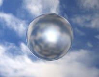 Sphère 002 de miroir Photo libre de droits