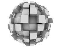 Sphère 3d abstraite Images libres de droits
