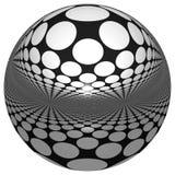 SPHÈRE 3D AVEC des RÉFLEXIONS Photos libres de droits