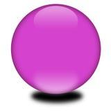 sphère 3d colorée pourprée Photo stock