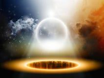 Sphère abstraite dans l'espace illustration de vecteur