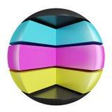 sphère abstraite de cmyk Images libres de droits