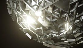 Sphère abstraite en métal avec Shell Closeup illustration libre de droits