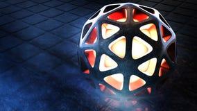 Sphère abstraite extraterrestre d'imagination illustration stock