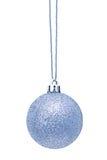 Sphère argentée de Noël Photos stock