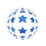 Sphère avec des étoiles Images libres de droits
