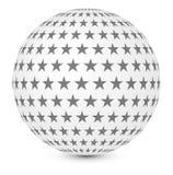 Sphère avec des étoiles Photo stock