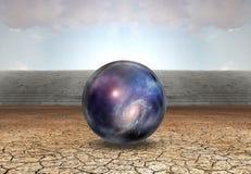 Sphère avec des étoiles illustration stock
