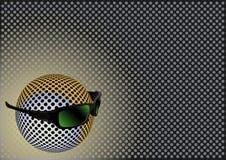 Sphère avec des lunettes de soleil illustration stock