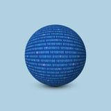 Sphère avec le code binaire Photos stock