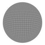 Sphère avec les cercles noirs et blancs Image libre de droits