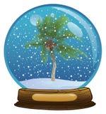 Sphère avec une neige Image libre de droits