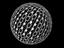 Sphère binaire Photo stock