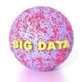 Sphère binaire faite à partir des zéros et de ceux avec de grandes lettres de données illustration stock