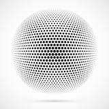 Sphère blanche d'image tramée du vecteur 3D Fond sphérique pointillé logo Photos libres de droits