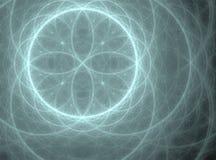 Sphère bleue avec des pétales Image libre de droits