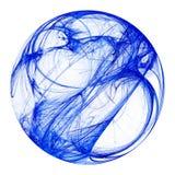 Sphère bleue de fractale Photos stock