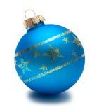 Sphère bleue de Noël Photos libres de droits