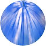 Sphère bleue et blanche Images libres de droits