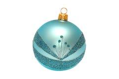 Sphère brillante de Noël sur un blanc Photographie stock libre de droits