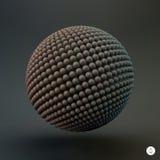 sphère calibre du vecteur 3d Illustration abstraite Photographie stock libre de droits