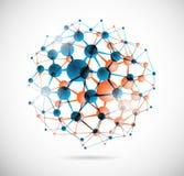 Sphère chimique illustration stock