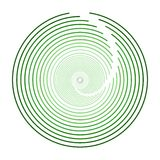 Sphère circulaire verte Logo Design moderne Image stock