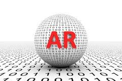 Sphère conceptuelle de l'AR Photographie stock