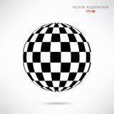 Sphère d'échecs d'abrégé sur boule d'échecs illustration de vecteur