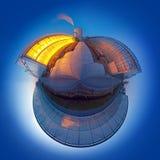 Sphère d'émission d'anhydride carbonique photos stock
