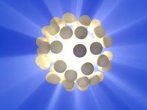Sphère d'énergie Photos stock