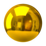 Sphère d'or Image libre de droits