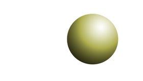 Sphère d'or Photo libre de droits