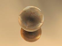 Sphère d'or Photographie stock