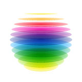 Sphère d'arc-en-ciel Photographie stock libre de droits