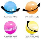sphère 3D avec le logo de flèches illustration de vecteur