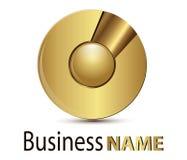 Sphère d'or de logo Photos libres de droits