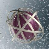 sphère 3d des anneaux multicolores en nuage des baisses multicolores Image libre de droits