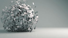 Sphère 3d géométrique animée clips vidéos