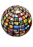 Sphère d'images Photos libres de droits