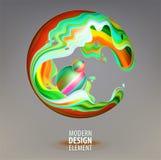 Sphère d'infographie décorée des pétales 3d et des éléments de conception à l'intérieur Logo de vecteur pour votre conception EPS illustration libre de droits