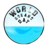 Sphère d'océans illustration stock
