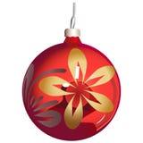 sphère d'ornement de Noël-arbre Images stock