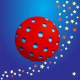 sphère 3D texturisée Photo stock