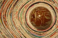 Sphère dans le vortex photo stock