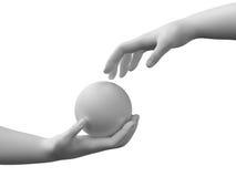 Sphère dans les mains Image stock