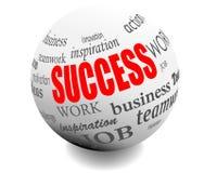 Sphère de bille de motivation de succès commercial    Photos stock