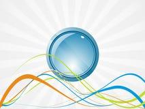 sphère de bleu du vecteur 3d Photo libre de droits