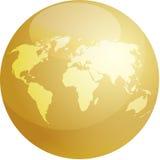 Sphère de carte Images stock
